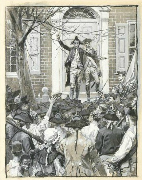 1 Hamilton Addressing the Mob by Howard Pyle